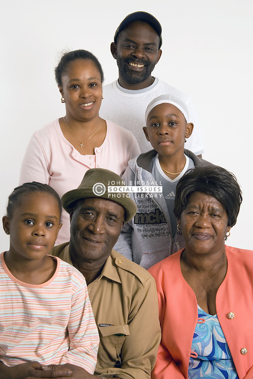 Portrait of three generations of a family,