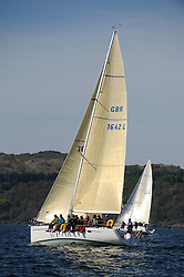 The Clyde Cruising Club's Scottish Series held on Loch Fyne by Tarbert. Day 2 racing in a perfect southerly..GBR1642L, Ceol Beag, Donald MacKenzie, CCC, Elan 40.