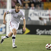USA defender Tim Ream (15) during a  CONCACAF Gold Cup soccer match between the United States and Panama on Saturday, June 11, 2011, at Raymond James Stadium in Tampa, Fla. (AP Photo/Alex Menendez)