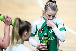 Angela Rudman of ZRK Krka Novo Mesto during handball match between RK Olimpija and ZRK Krka Novo Mesto in Round #10 of National Youth League in Season 2020-21, on May 2, 2021 in Hala Tivoli, Ljubljana, Slovenia. Photo by Matic Klansek Velej / Sportida