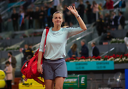 May 8, 2019 - Madrid, MADRID, SPAIN - Petra Kvitova of the Czech Republic walks off the court after her third-round match at the 2019 Mutua Madrid Open WTA Premier Mandatory tennis tournament (Credit Image: © AFP7 via ZUMA Wire)