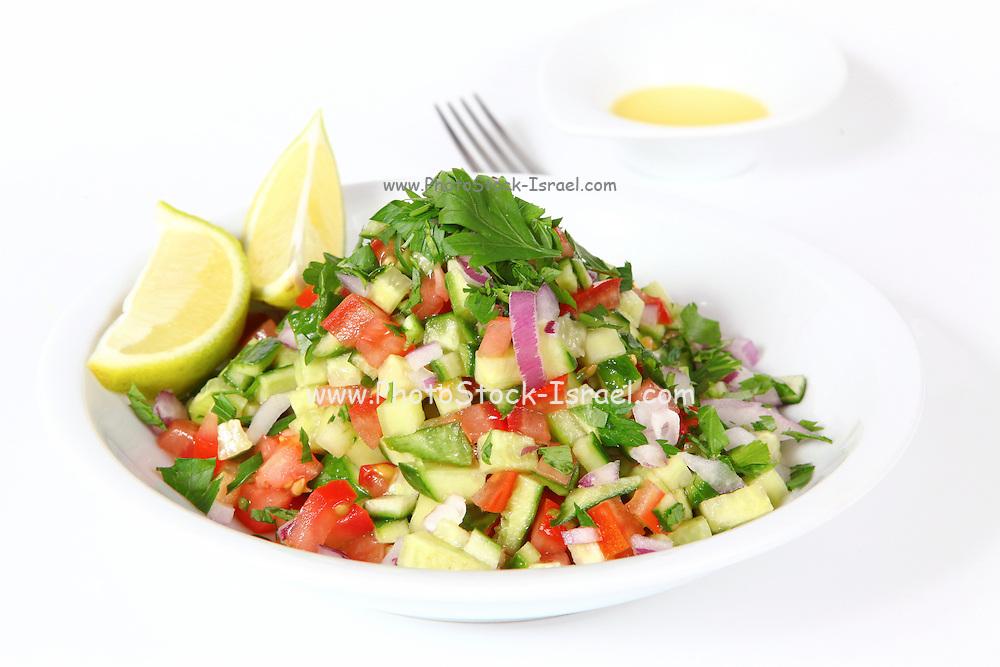 Israeli Salad Tomato and Cucumber and lemon