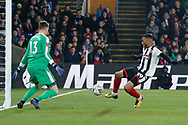 Grimsby Town forward Wes Thomas (39) had several early chances to put Grimsby ahead during The FA Cup 3rd round match between Crystal Palace and Grimsby Town FC at Selhurst Park, London, England on 5 January 2019.