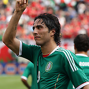 Aldo De Nigris, Mexico, celebrates after scoring during the Mexico V Wales international football friendly match at MetLife Stadium, East Rutherford, New Jersey, 23rd May 2012. Photo Tim Clayton