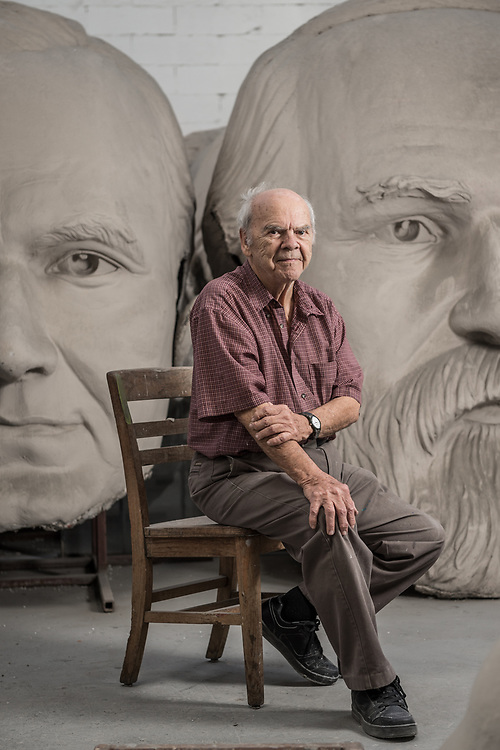 David Adickes poses for a portrait at his studio near downtown Houston Tuesday November 28, 2017. (Michael Starghill, Jr.)