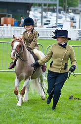 © Licensed to London News Pictures. 18/05/2019. Llanelwedd, Powys, Wales, UK. Horse events take place in the min ring on the first day of the Smallholding and Countryside Festival - A celebration of rural life – at the Royal Welsh Agricultural Society showground, Llanelwedd in Powys, UK. Photo credit: Graham M. Lawrence/LNP