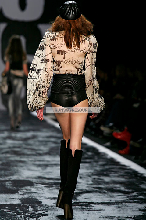 Danielle Hamm walks the runway wearing Miss Sixty Fall 2009 Collection