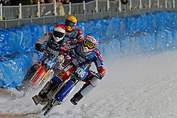 13.03.2016, Assen, BEL, FIM Eisspeedway Gladiators, Assen, im Bild Dimitry Koltakov (RUS), Igor Kononov (RUS) // during the Astana Expo FIM Ice Speedway Gladiators World Championship in Assen, Belgium on 2016/03/13. EXPA Pictures © 2016, PhotoCredit: EXPA/ Eibner-Pressefoto/ Stiefel<br /> <br /> *****ATTENTION - OUT of GER*****