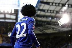 Willian of Chelsea prepares to take a corner - Mandatory byline: Robbie Stephenson/JMP - 10/01/2016 - FOOTBALL - Stamford Bridge - London, England - Chelsea v Scunthrope United - FA Cup Third Round