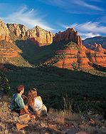 Sedona, hikers, Brins Mesa, Arizona, red rock, trails