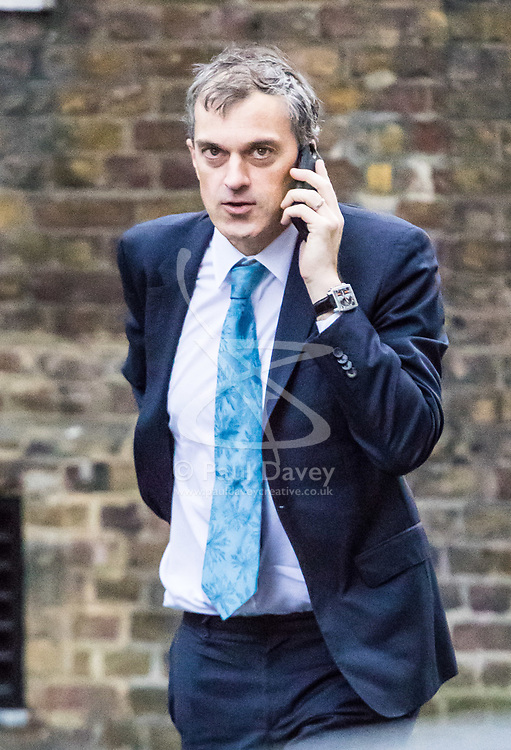 London, November 14 2017. Conservative Chief Whip Julian Smith attends the UK cabinet meeting at Downing Street. © Paul Davey