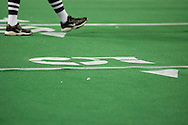 4/12/2007 - The first ever professional football game in Alaska was not perfect, as the turf started to come up causing other obstacles for players and officials.