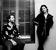 Nigel Kennedy and Amina Annabi in the studio London 1992