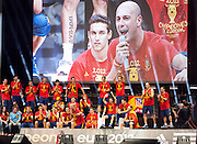 Euro 2012: Celebration <br /> Spain's Euro 2012 championship soccer team arrives to Madrid