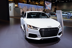 09 February 2017: Audi TTs 2 door coupe<br /> <br /> First staged in 1901, the Chicago Auto Show is the largest auto show in North America and has been held more times than any other auto exposition on the continent.  It has been  presented by the Chicago Automobile Trade Association (CATA) since 1935.  It is held at McCormick Place, Chicago Illinois<br /> #CAS17