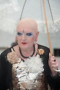 ONE OF ARTISTS ADELLE & EVA, Venice. Venice Bienalle. 28 May 2013