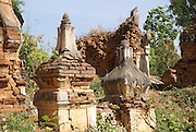 Myanmar, Shan state, Inle lake Indein Pagodas