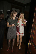 Karen Nicholls and Jessica Pemberton, Launch of perfume: L'Air de Rien, The Arts Club, 40 Dover Street, London,New fragrance created for Birkin by perfumier Miller Harris. 4 September 2006. ONE TIME USE ONLY - DO NOT ARCHIVE  © Copyright Photograph by Dafydd Jones 66 Stockwell Park Rd. London SW9 0DA Tel 020 7733 0108 www.dafjones.com