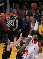 April 10, 2018 - Los Angeles, California, U.S - Gerald Green #14 of the Houston Rockets puts up the ball during their NBA game with the Los Angeles Lakers on Tuesday April 10, 2018 at Staples Center in Los Angeles, California. Lakers lose to Rockets, 105-99. (Credit Image: © Prensa Internacional via ZUMA Wire)