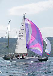Sailing - SCOTLAND  - 26th May 2018<br /> <br /> 2nd days racing the Scottish Series 2018, organised by the  Clyde Cruising Club, with racing on Loch Fyne from 25th-28th May 2018<br /> <br /> GBR3316C, Ventura, Graham Cannell, Largs Sailing Club, Bavaria Cruiser 33<br /> <br /> Credit : Marc Turner<br /> <br /> Event is supported by Helly Hansen, Luddon, Silvers Marine, Tunnocks, Hempel and Argyll & Bute Council along with Bowmore, The Botanist and The Botanist