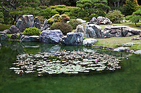Ritsurin is a landscape garden in Takamatsu  built by the local feudal lords during the Edo Period. Considered one of the finest gardens in Japan,  Ritsurin features many ponds, hills and pavilions set in front of wooded Mt. Shiun which serves as a background and example of borrowed scenery and Japanese gardening design.
