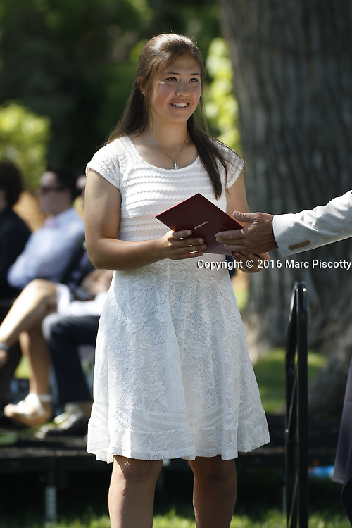 SHOT 6/2/16 9:44:00 AM - Colorado Academy Class of 2016 Commencement ceremonies at the Denver, Co. private school. The school graduated 88 seniors this year and the event capped a week filled with awards, tributes, and celebrations for the outgoing senior class. (Photo by Marc Piscotty / © 2016)