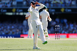England's Joe Root reacts during day two of the Ashes Test match at The Gabba, Brisbane.