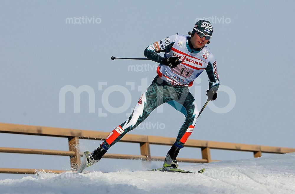 Sapporo , 250207 , Nordische Ski Weltmeisterschaft  Nordische Kombination Teamwettbewerb ,  Anssi KOIVURANTA (FIN)