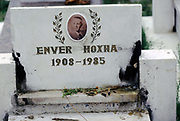 The grave of Enver Hoxha in a cemetary in Tirana, Albania