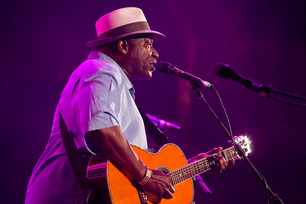 Taj Mahal performing on stage at the Domino Effect Benefit Concert in the New Orleans Arena in New Orleans, Louisiana, USA, 30 May 2009.