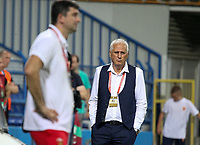 PODGORICA, MONTENEGRO - JUNE 07: Kosovo coach Bernard Challandes looks during the 2020 UEFA European Championships group A qualifying match between Montenegro and Kosovo at Podgorica City Stadium on June 7, 2019 in Podgorica, Montenegro MB Media