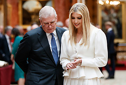 Ivanka Trump with the Duke of York view a special exhibition in the Picture Gallery of items from the Royal Collection of historical significance to the US at Buckingham Palace in London, on day one of a three day state visit by US President Donald Trump to the UK.
