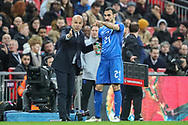 Italy manager Luigi Di Biagio instructs Italy forward Davide Zappacosta (21) during the Friendly match between England and Italy at Wembley Stadium, London, England on 27 March 2018. Picture by Toyin Oshodi.