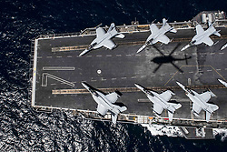 Apr 30, 2017 - U.S. - Pacific Perspective. The aircraft carrier USS Theodore Roosevelt travels in the Pacific Ocean during a tailored ship training event off the coast of Southern California, April 30, 2017. Navy photo by Petty Officer 3rd Class Austin Clayton (Credit Image: ? Austin Clayton/Navy/DoD via ZUMA Wire/ZUMAPRESS.com)