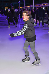 JAIME WINSTONE at Skate at Somerset House in association with Fortnum & Mason held on 10th November 2014.