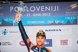 DE NEGRI Pier Paolo (Italy) of Nippo - Vini Fantini during flower ceremony after the Stage 2 of 22nd Tour of Slovenia 2015 from Skofja Loka to Kocevje (183 km) cycling race on June 19, 2015 in Slovenia. Photo by Ziga Zupan / Sportida