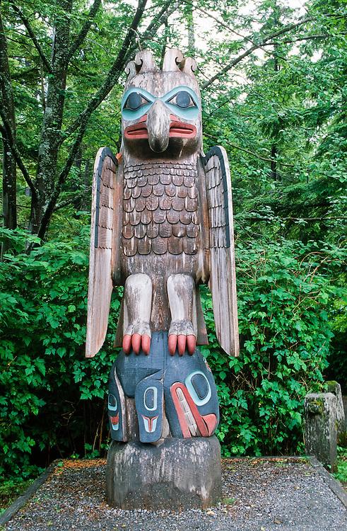 Alaska. Ketchikan. Totems in Totem Bight Historic Park