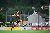 Fotball , 1.divisjon , OBOS-ligaen <br /> 10.06.2018 , 20180610<br /> Mjøndalen - HamKam<br /> Mjøndalens matchvinner Mahmoud Eid jubler for sin scoring til 2-1 <br /> Foto: Sjur Stølen / Digitalsport
