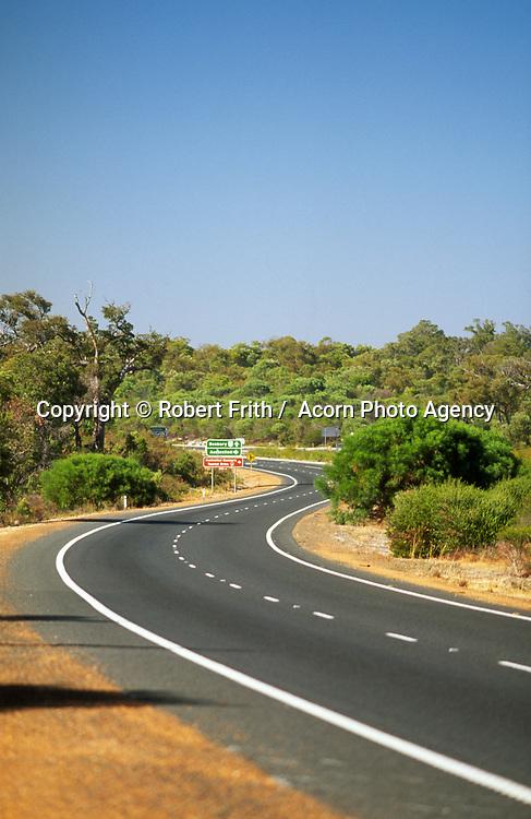 Winding road near Australind