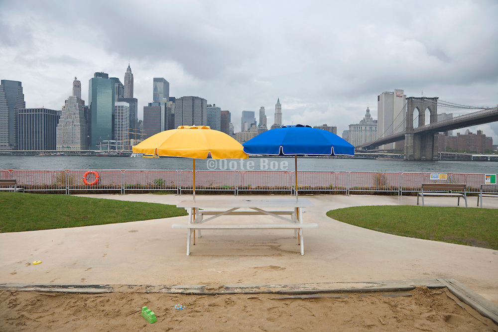 the new New York with a Brooklyn beach front on pier 1