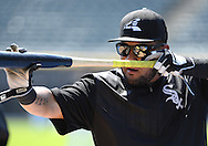 CHICAGO - JUNE 25:  Melky Cabrera #53 of the Chicago White Sox looks on during batting practice prior to the game against the Toronto Blue Jays on June 25, 2016 at U.S. Cellular Field in Chicago, Illinois.  The Blue Jays defeated the White Sox 10-8.  (Photo by Ron Vesely) Subject:    Melky Cabrera