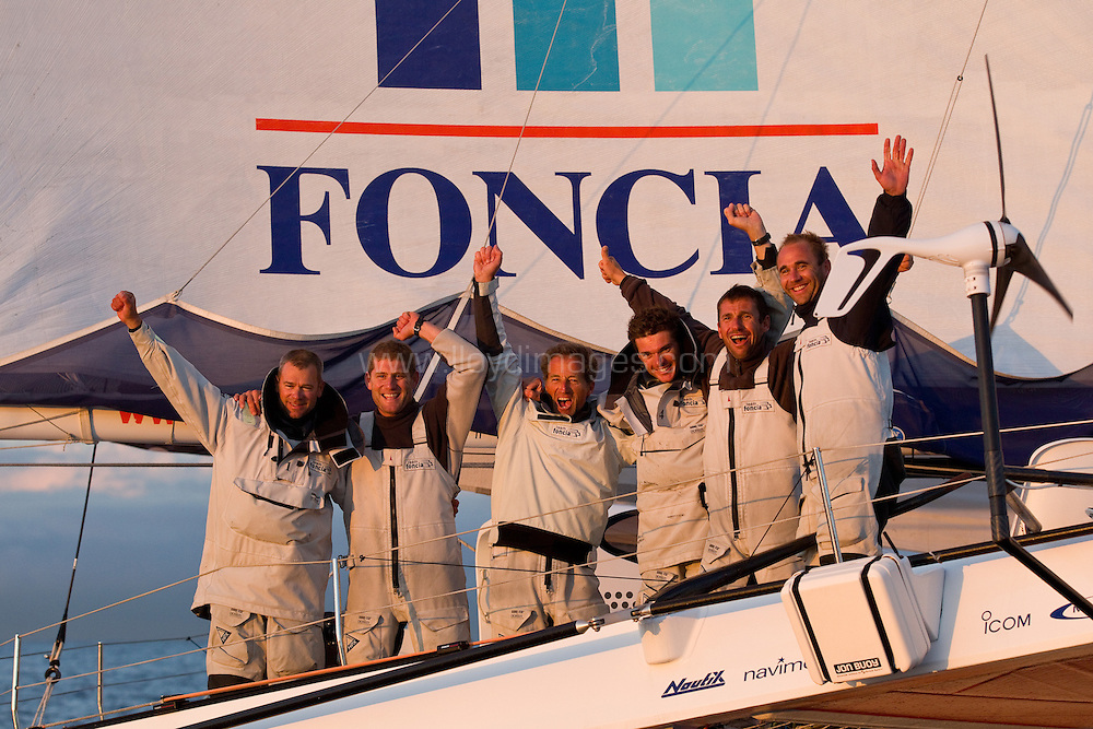 2nd October, 2012. The finish of the MOD70 European Tour 2012. Genoa. Italy.Credit: Lloyd Images.