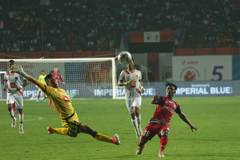 Gourav Mukhi of Jamshedpur FC during match 25 of the Hero Indian Super League 2018 ( ISL ) between Jamshedpur FC and FC Goa held at JRD Tata Sports Complex, Jamshedpur, India on the 1st November  2018<br /> <br /> Photo by: Ron Gaunt /SPORTZPICS for ISL