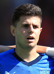 Italy U17's Giorgio Brogni during the UEFA European U17 Championship, Group A match at Banks's Stadium, Walsall. PRESS ASSOCIATION Photo. Picture date: Monday May 7, 2018. See PA story SOCCER England U17. Photo credit should read: Mike Egerton/PA Wire. RESTRICTIONS: Editorial use only. No commercial use.