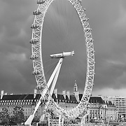 London Eye - County Hall - London, UK - Black & White