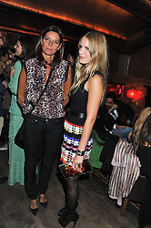 Left to right, COUNTESS DEBONAIRE VON BISMARCK and EUGENIE NIARCHOS at a party to celebrate the opening of the Muzungu Sisters Pop Up Store at Momo - an ethically sourced fashion brand  held at Momo, 25 Heddon Street, London on 27th October 2011.