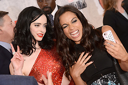 (L-R)  Actors Krysten Ritter and  Rosario Dawson attend the 'Marvel's The Defenders' New York Premiere at Tribeca Performing Arts Center in New York, NY, on on July 31, 2017. (Photo by Anthony Behar) *** Please Use Credit from Credit Field ***