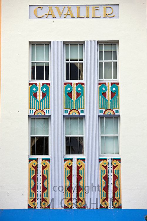 Cavalier Hotel art deco style on Ocean Drive, South Beach, Miami, Florida, USA