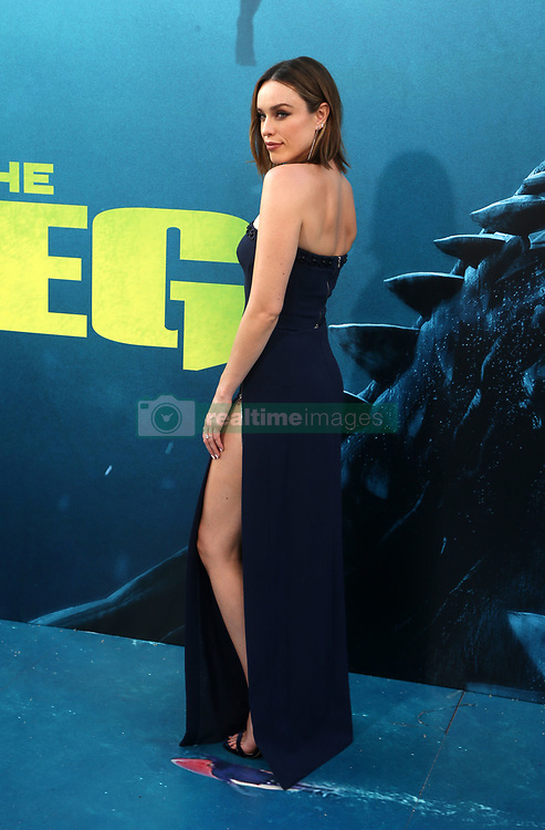 """HOLLYWOOD, CA - August 6: Cassie Scerbo, at Warner Bros. Pictures And Gravity Pictures' Premiere Of """"The Meg"""" at TCL Chinese Theatre IMAX in Hollywood, California on August 6, 2018. 06 Aug 2018 Pictured: Jessica McNamee. Photo credit: FS/MPI/Capital Pictures / MEGA TheMegaAgency.com +1 888 505 6342"""