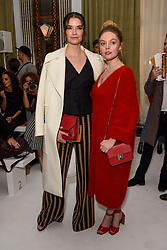 Margaret Clooney and Nell Hudson on the front row during the Jasper Conran London Fashion Week SS18 show held at Claridge's, London. Picture date: Saturday September 16th, 2017. Photo credit should read: Matt Crossick/ EMPICS Entertainment.
